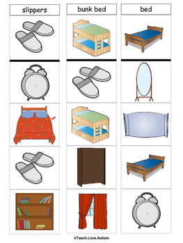 Life Skills Tasks: Bedroom Clothespin Cards