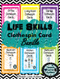 Life Skills Tasks: **GROWING BUNDLE- Home Clothespin Cards