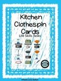 Life Skills Tasks: Kitchen Clothespin Cards
