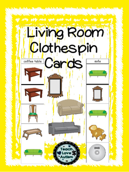 Life Skills Tasks: Living Room Clothespin Cards