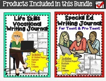 Vocational Teen Life Skills Bundle
