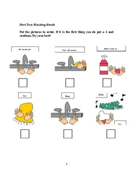 Life Skills Test: Brushing Teeth, Washing Hands and Healthy Food Choices