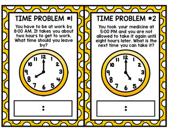 Life Skills - Time - Elapsed Time - Task Cards - Special Education - Unit 6