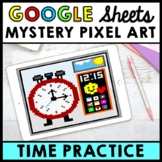 Life Skills - Time - Mystery Pixel Art - Google Sheets - Analog Clock
