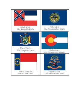 Special Education: USA State Flags Match