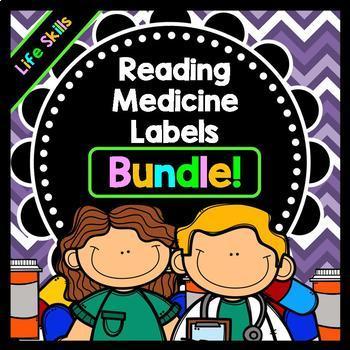 Life Skills - Reading - Writing - Medicine Labels - Special Education - BUNDLE