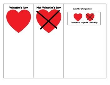 Special Education: Valentine's Day Sorting
