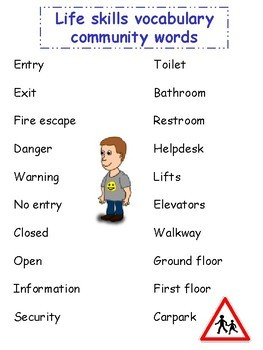 Life Skills Vocabulary