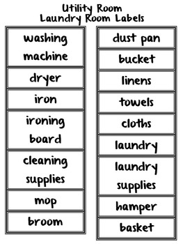 Life Skills Vocabulary: Classroom and Home Labels