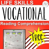 Life Skills Vocational Reading Comprehension Freebie
