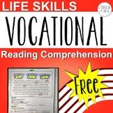 Life Skills Vocational Reading Comprehension Freebie
