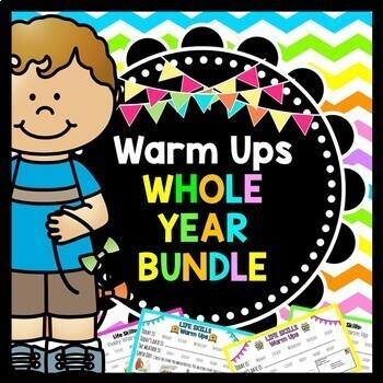 Life Skills Warm Ups: WHOLE YEAR BUNDLE - Special Education - Life Skills