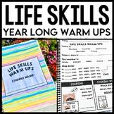Life Skills Warm Ups: WHOLE YEAR BUNDLE - Special Education - Life Skills