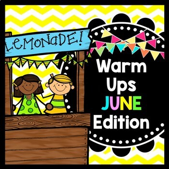 Life Skills Warm Ups - Summer - Special Education - June - Math - Reading