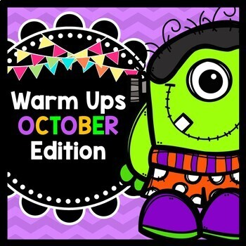 Life Skills Warm Ups: OCTOBER - Halloween, Reading, Writing