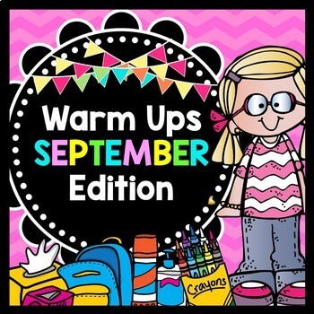 Life Skills Warm Ups: SEPTEMBER - Back to School Math, Reading, Writing