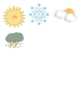 Life Skills Weather File Folder (Female Version)