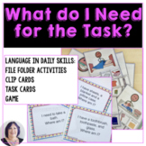 Life Skills: What Do I Need Item Associations  Autism Speech Language