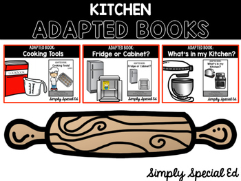 Kitchen Adapted Books for Special Education