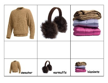 Special Education: Winter Clothing and Words