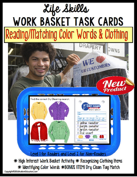 Life Skills - Work Task DRY CLEANERS Reading/ Matching Col