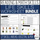Life Skills Worksheet BUNDLE