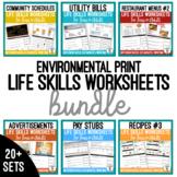 Life Skills Worksheets BUNDLE
