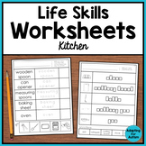 Life Skills Worksheets for Special Education - Kitchen