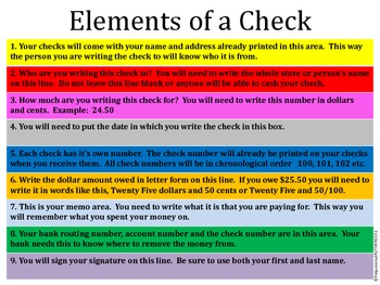 Life Skills - Writing Checks