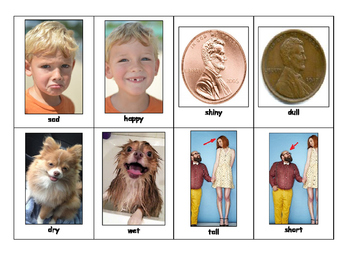 Life Skills and Special Education: Match the Opposites