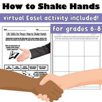 Life Skills for Peace: How to Shake Hands (A First Day of School Activity)