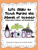 Life Skills to Teach During the Month of October
