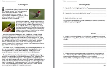 """""""Life"""" (The Discovery Series) Birds Worksheets"""