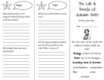 Life & Travels of Jedediah Smith Trifold - 5th Grade Literacy by Design Theme 9