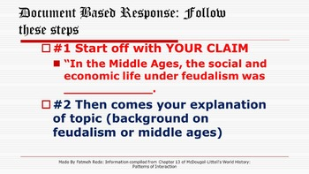 Life Under Feudalism DBQ- Complete bundle of resources