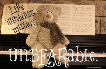 Life Without Music? UnBEARable - Poster