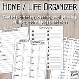 Home and Life Management Organization Binder