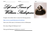 Life and Times of William Shakespeare Webquest