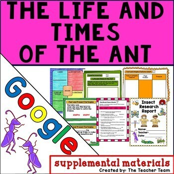 Life and Times of the Ant Journeys 4th Grade Unit 3 Google Digital Resource