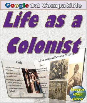 Life as a Colonist Lesson Plan