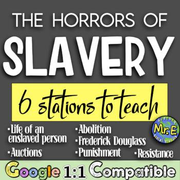 Life as an American Slave!  Students navigate through 6 stations on slave life!