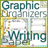 Graphic Organizers and Writing Paper for Kindergarten - Distance Learning