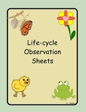 Life-cycle Observation Sheets
