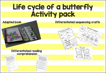 Life cycle of a butterfly adapted book and resource pack