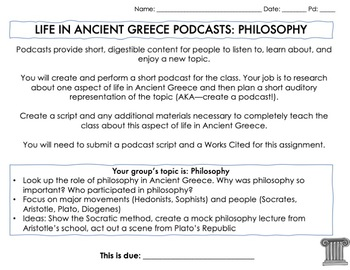 Life in Ancient Greece Podcasts