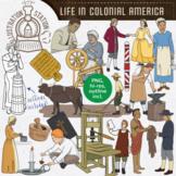 Life in Colonial America Clip Art
