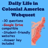 Daily Life in Colonial America Webquest | Distance Learning