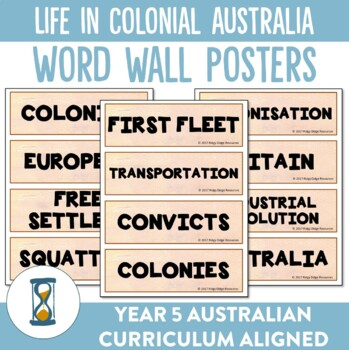 Life in Colonial Australia Word Wall