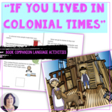 Life in Colonial Times Adapted Informational Text Speech Therapy