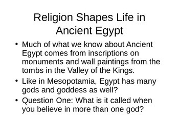 Life in Egypt PowerPoint